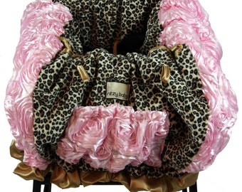Leopard Pink & Gold Shopping Cart Cover/Restaurant High Chair Cover, Park Swing Cover