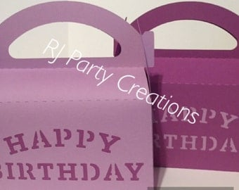12 Happy birthday Gable box Party Favor