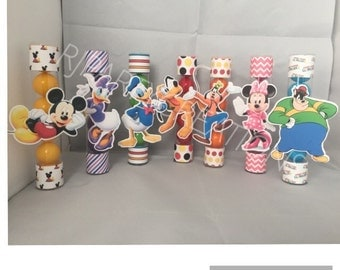 12 Mickey Mouse Clubhouse Candy Tube Favor