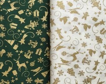 Christmas Minatures Cotton Fabric