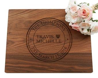 Wedding Gift Cutting Board, Personalized Cutting Board, Engraved Cutting Board, Custom Cutting Board, Wedding Gift