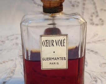 Guermantes, Cœur Volé, 30 ml. or 1 oz. Flacon, Pure Parfum Extrait, 1948, Paris, France ..