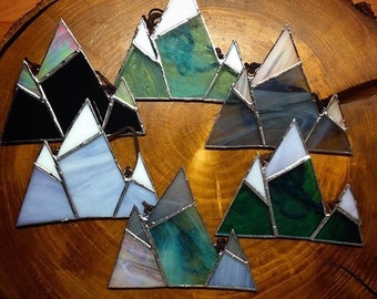 rocky mountain glass, stained glass