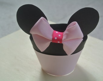 Minnie Mouse Cupcake Wrapper, pink cupcake wrapper