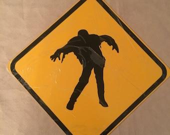 "Zombie Crossing Sign 12"" x 12"" Aluminum FREE S&H US BUYER"