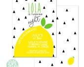 Lemon Invitation - 5x7 with reverse side