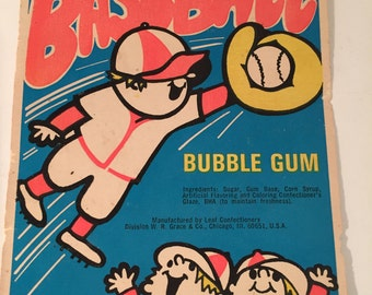 Leaf Baseball Bubble Gum Machine Card