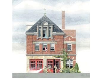 Fire Hall 15, Cowan Ave. Toronto // Fire Station, Parkdale, Toronto History, Beaux - arts, Toronto art, Fire House, Waltstsquare, Architect.