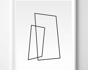 Minimalistic, Abstract art, Grey white, Geometric Art, Modern art, Wall decor, Digital art, Printable, Digital poster Instant Download 16x20