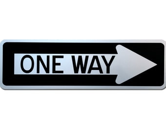 """Reflective One Way Sign 20"""" x 6"""""""