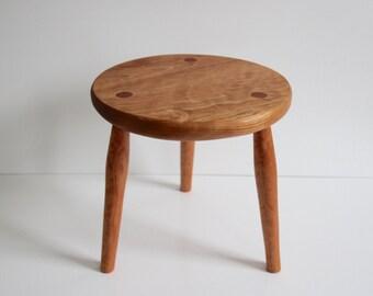 Wood Stool Milking Stool Cherry Wood Stool Sitting Stool 3 Legged Stool & 3 legged stool | Etsy islam-shia.org