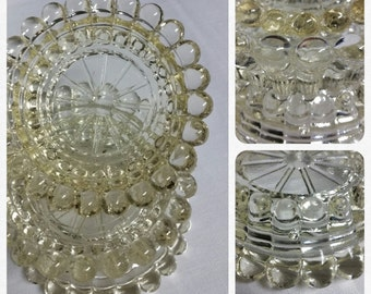 Clear EAPG Coasters or Ashtrays - set of 3