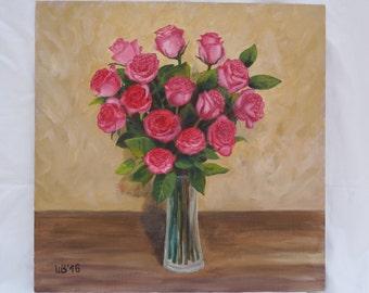 Original oil painting The bouquet of roses oil painting original painting painting for sale fine art home decor wall decor handmade art rose