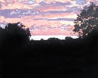 Tropical Sunrise Acrylic on Canvas