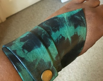 Leather Arm Cuff Bracelet