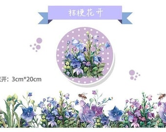 Japanese washi paper masking tape [RT] Balloon Flower Decoration/DIY/Wrapping