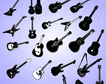 Guitar clipart – Etsy