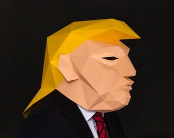 Donald Trump Mask with a Mullet, DIY Trump Head, Instant Pdf download, DIY Printable Paper Mask, Presidential Election 2016