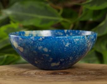 Lapis Lazuli 76 mm Handcarved  Pure Gem Stone Bowl