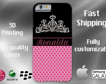 PRINCESS Cell Phone Case, Crown iPhone 6s case, Note 4 case, Princess phone case, iPhone 6 plus cell phone case, iPhone 6 plus case, S6