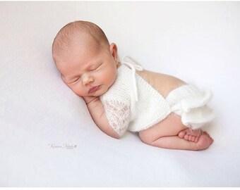 Newborn angora set, newborn bloomers, newborn blouse, newborn prop, newborn photo prop