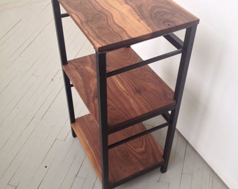Black Walnut Turntable Stand / Shelf