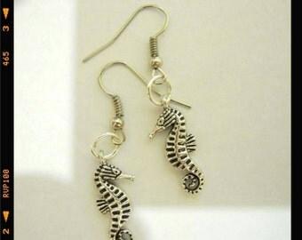 Handmade earrings hippocampus