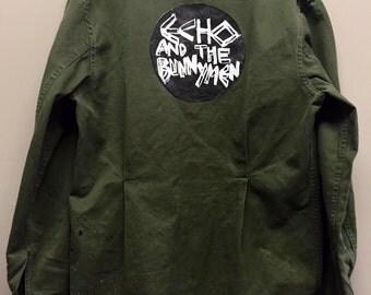 "Custom ""Echo and the Bunnymen"" vintage military shirt"