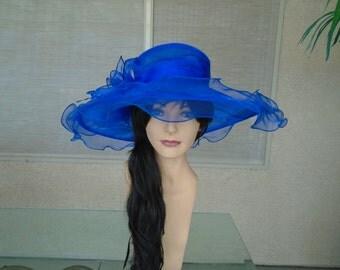 Blue Kentucky Derby hat