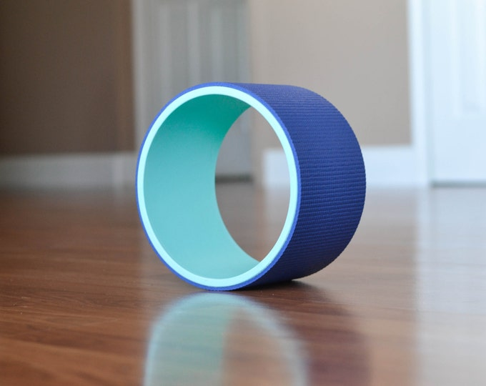 "8"" Yoga Wheel- Teal&Blue"