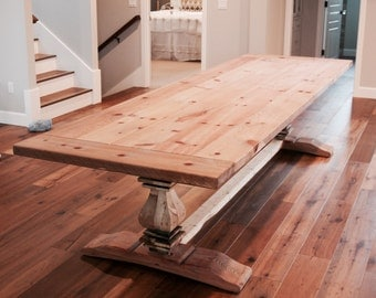 Farmhouse Table/ Farm Table / Dining Table / Community Table / Restoration Hardware Table / Locally Salvaged Wood / Kitchen Table