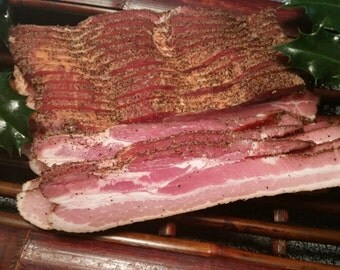 The Badlands Farms Organic Applewood Smoked Center Cut Pepper Bacon 2 Pounds