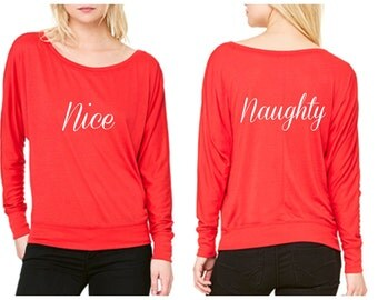 Naughty and Nice Christmas Shirt for women
