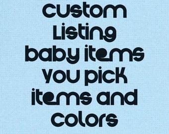 Baby Boy  Blue Gift Set, You Pick Items