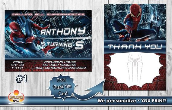 Salenssvr Spiderman Birthday Party Invitation Printable