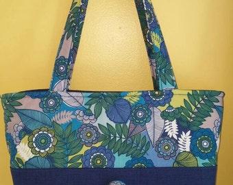 Flower Garden,handbags,shoulder bags-totes-purses,women's purses,handbags and purses,flowers,blue,gift