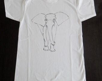 Elephant hand-painted t-shirt