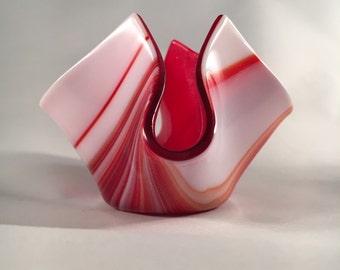 Strawberry and cream baby vase