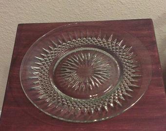 Lot of 4 - Vintage Crystal Dinner Plates - Kim Indonesia