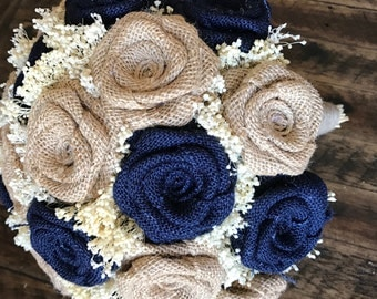 Wedding Bouquets, Navy Blue Bouquets, Burlap Wedding Bouquets, Bridal Bouquets, Rustic Bouquets, Burlap Bouquets, Rustic Wedding Bouquets