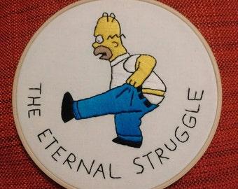 Homer Simpson embroidery hoop