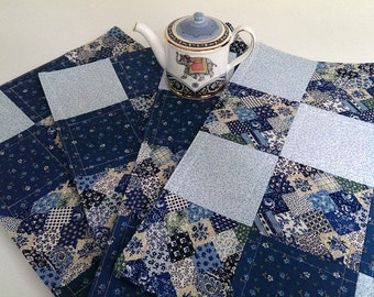 Blue Quilted Placemats - Set of 4