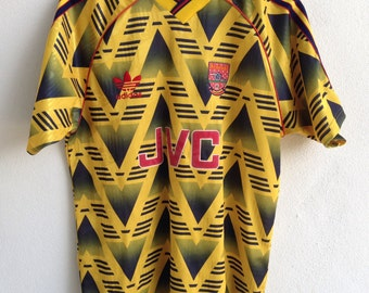 Rare Vintage Arsenal jersey JVC adidas 1990-91 away M