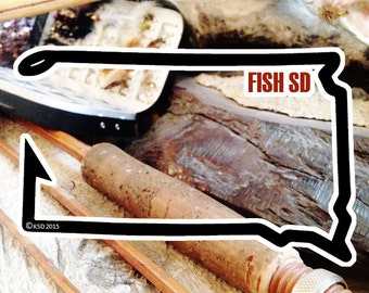 Fish South Dakota Sticker - Idahook Series