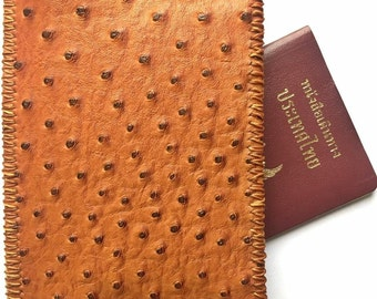 Handmade Faux Leather Hand Stitch Passport Case Cover Wallet Holder