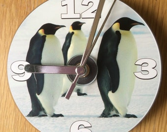 PENGUIN CD CLOCK (Can be Personalised)