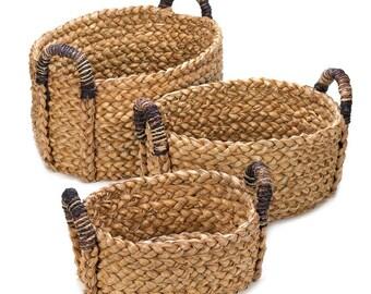 Three Woven Nesting Baskets