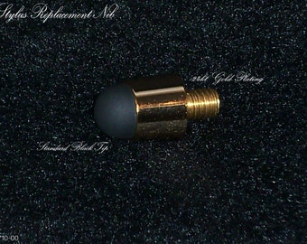 24kt gold finish soft black stylus replacement tip