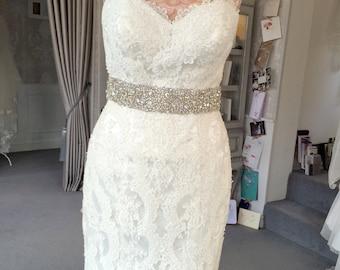 Crystal bridal sash.