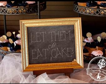 Let Them Eat Cupcakes Faux Chalkboard